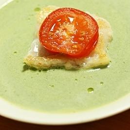 白身魚のクリームソース(クリスマスバージョン)