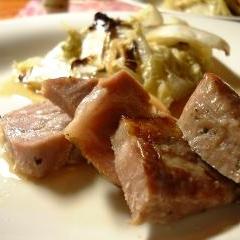 オーブンで簡単、ローストポーク塩焼き豚