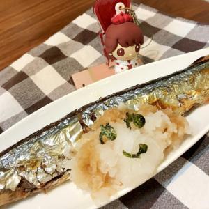 さんま塩焼き大根アート♡ポン酢をかけて(o^^o)