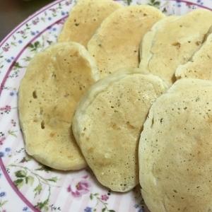 離乳食☆バナナヨーグルトパンケーキ