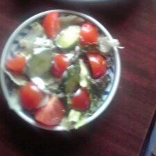 トマトときゅうりのヨーグルトサラダ