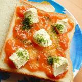 5分!柿ジャムで❤サンドイッチ♪(クリームチーズ)