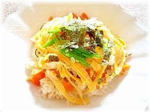♪♪楽チン簡単!たけのことあなごの混ぜ寿司♪♪