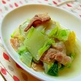 とっても簡単美味しい♪白菜と豚バラの蒸し煮スープ