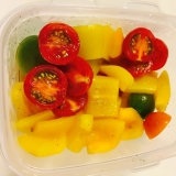 簡単お惣菜♪プチトマトとパプリカのマリネ