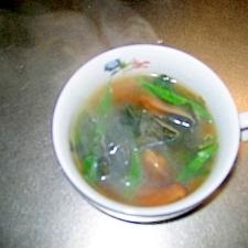 ワカメと青ネギの中華スープ
