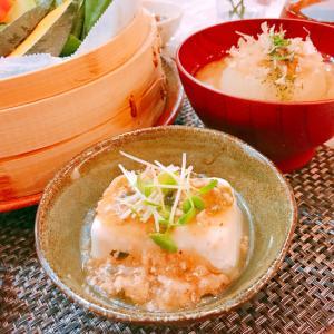 豆腐の挽肉あんかけ