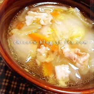 豚バラと白菜の和風スープ