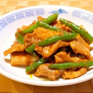 お弁当に★豚肉といんげんの豆板醤炒め