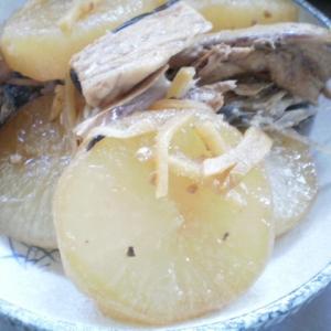 ブリのあらと大根の煮物
