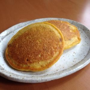 米粉かぼちゃ金時豆パンケーキ♪