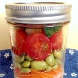 枝豆とプチトマトのジャーサラダ