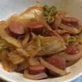 白菜・玉ねぎ&ウインナーのレモンチャップ炒め