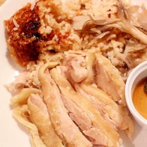 圧力鍋で舞茸と鶏もも肉のカオマンガイ風