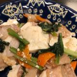 ヘルシー&満腹♪豚肉と豆腐の中華風 塩炒め^_^