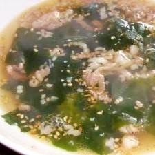 体暖まる♪ワカメスープ