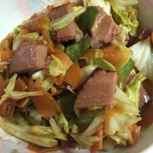 焼豚で回鍋肉