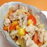 子供が喜ぶ(^^)豚肉+トマト+玉ねぎの炒め物♪
