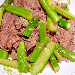 豚肉とアスパラのジンジャー炒め