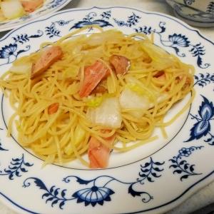 白菜と鮭の和風パスタ