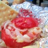 BBQに☆トマトのチーズ焼き(ホイル包み)