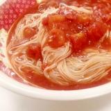 普通の素麺に飽きたらさっぱりトマトポン酢!