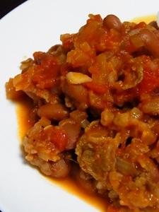 トマト缶と金時豆(ドライパック)でチリコンカン^^