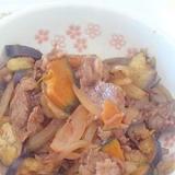 茄子とカボチャのオイスター炒め