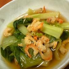 簡単☆青梗菜と干し海老のオイスター煮