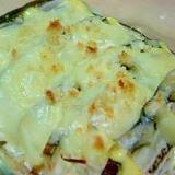 茄子と玉ねぎのチーズ焼き