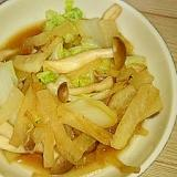 白菜・ぶなしめじ・大根のからしめんつゆ炒め