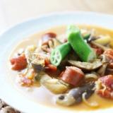 夏野菜とココナッツミルクのカレースープ