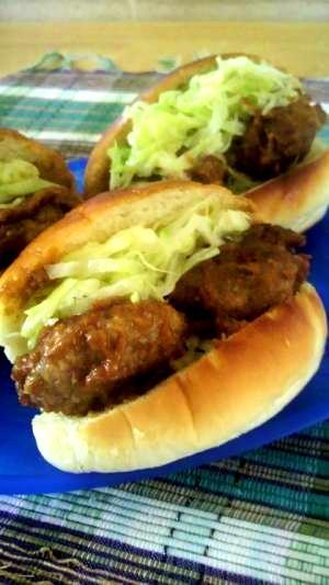 ハヤシルーで簡単煮込みハンバーグミニドッグ