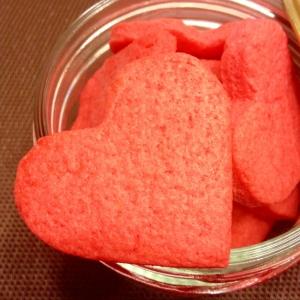 きれいな「赤いハートのクッキー」バレンタインにも♪