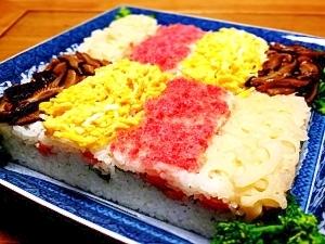 ひな祭りに!しめ鯖とスモークサーモンの押し寿司