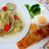 アサリとセロリのスープの朝パンプレート