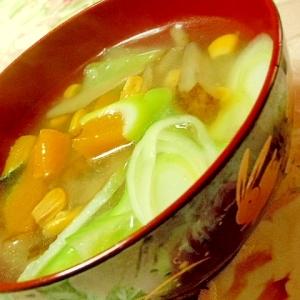 ごぼうの中華スープ