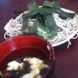 大和芋ときくらげの盛り蕎麦