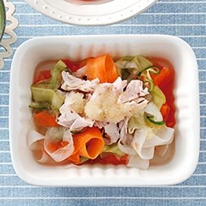 スライス野菜マリネとささみのサラダ