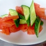 簡単 トマトときゅうりのサラダ