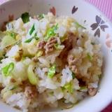 パパッと簡単*春キャベツと豚挽き肉の炒飯*