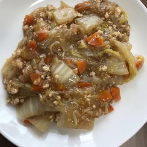 白菜と鶏ひき肉の中華あんかけ