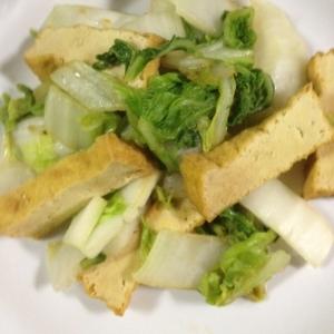 白菜と厚揚げの簡単煮浸し風