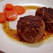 合いびき肉と豆腐のハンバーグ♪和風ソース