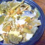 鯖味噌煮&もったいない野菜のタジン蒸し