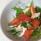 トマトとささみのあっさりサラダ