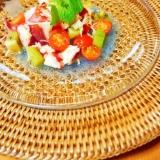 タコとホタテのカラフルサラダ!