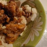 鶏もも納豆長芋サラダ