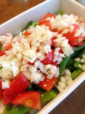 インゲンとトマトのサラダ