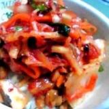 納豆の食べ方-キムチ♪